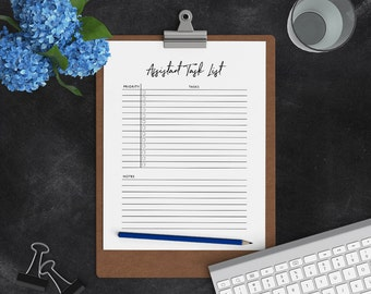 Personal Assistant Task List