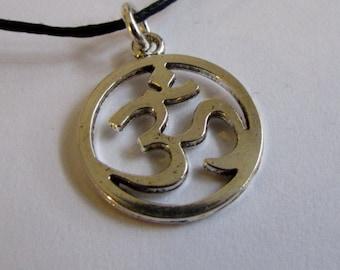 Om Ohm Aum Charm On Wax Cord Yoga Jewellery Adjustable Unisex Free UK Shipping + Gift Bag