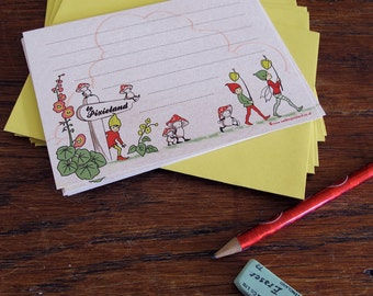 Set of 8 The Way to Pixieland Notecards