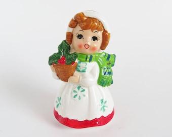 Vintage Lefton Christmas Figurine, Vintage Christmas Figurine, Kitschy Holiday Decor,  Retro Christmas, Vintage Christmas Decoration, Japan
