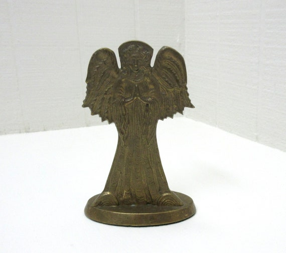 Vintage Jaimson Brass Angel Taper Candle Holder