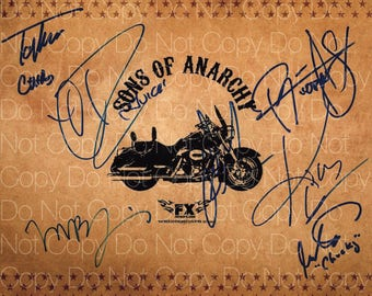 Sons Of Anarchy signed Ryan Hurst  Tommy Flanagan Orenstein Perlman Mark Boone Jr. Rossi Coates 8X10 photo picture poster autograph RP