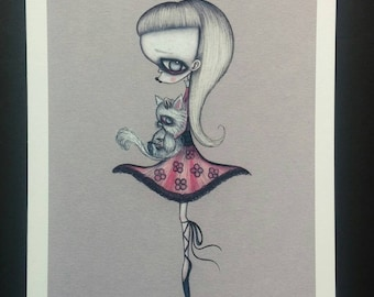 Weird Girl - Limited edition Fine art giclee print