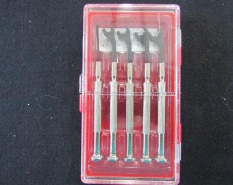 Hobby Craft Tool Miniature Wrench Set - Hobby - Crafting - Clock Repair - 5 Piece mm Set