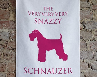 Schnauzer Tea Towel - Hostess gift - Schanuzer Gift - Mini Schnauzer - Giant Schnauzer - Birthday Gift - Housewarming Gift - Gift for her