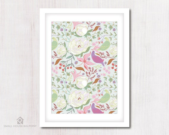 Watercolour Digital Wall Art , Home Wall Decor, Peonies and Birds Painting- Hand Painted- Ode To Spring 1 Wall Art Printables
