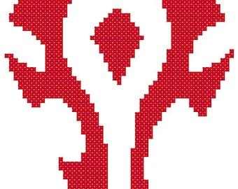 Horde Symbol Cross Stitch Pattern
