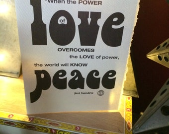 love peace [ good thoughts card ]