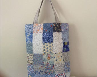 Patchwork Quilted Large Tote Bag, Handmade