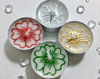 24pk Bespoke Tealight Candle. 38mm or 59mm. Party Favour & Stock Filler for Christmas, Eid, Wedding, Mehndi, Baby/Bridal Shower