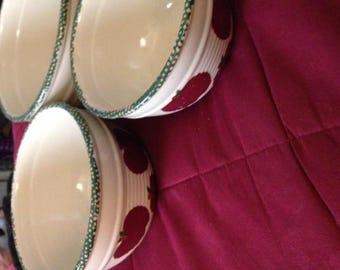 Apple mixing bowls ceramic