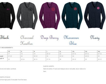 Monogrammed V-Neck Sweater