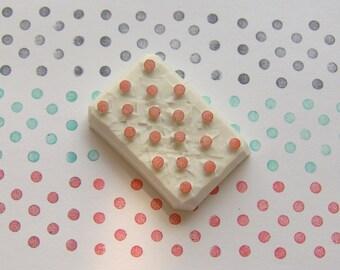 Polka dot rubber stamp, Polka dot stamp, dot stamp, dot rubber stamp, geometric stamp, circle rubber stamp, pattern rubber stamp, dots stamp