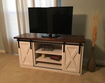 TV Stand with Barn Doors