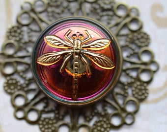 Golden Dragonfly Pendant necklace