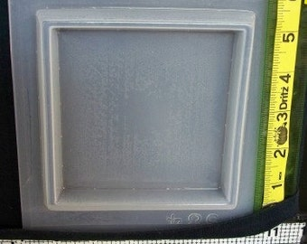 Square paperweight base resin mold 584 - make your own beverage coaster
