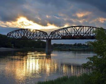 Bismarck Train Bridge Canvas