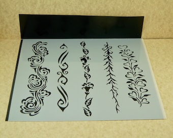 ORNATE BORDERS Laser Cut  TCW  6 x 6 Stencil