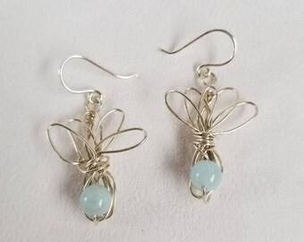 Hand-formed Silver Wire Earrings