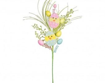 "30"" Egg & Chick Easter Spray/Wreath Supplies/Easter Decor/61958EAS"