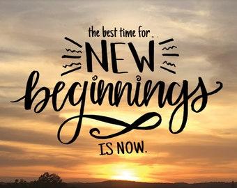 New Beginnings - sunset print