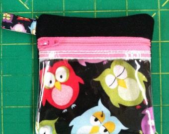 Zippered see-through coin purse