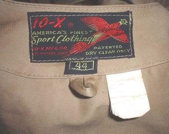 10-X brand competition shooting jacket size 44; circa 1950s-1970s