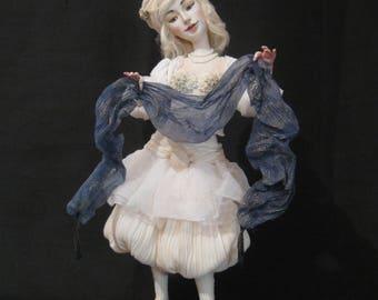 Etsy's 13th Birthday Sale OOAK Art Doll Badriya-like the full moon