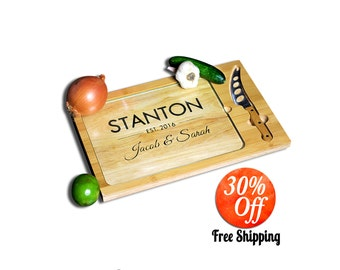 Personalized gift.personalized gift for couple.personalized sign.personalized cutting board.housewarming gift (Custom Cutting Board)