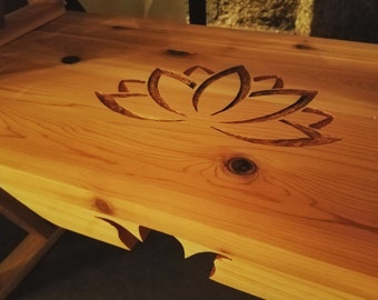 Meditation Altar Table - Lotus 2