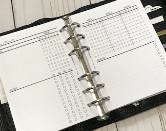 A6 Monthly Task Tracker Planner Inserts