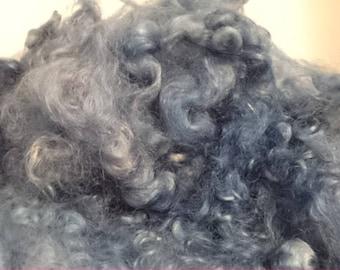 50 grams of 10-15 cms blue wensleydale sheep locks