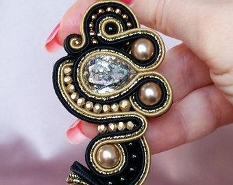 "Orecchini  ""Harem"" (tecnica soutache) / ""Harem"" soutache earrings"