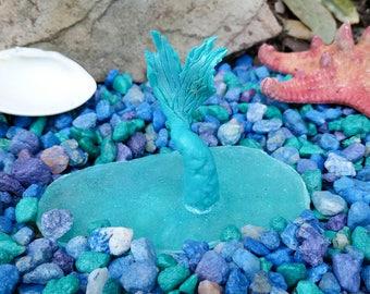 Mermaid, Fairy Garden Beach Pond, Fairy Pond, Fairy Garden Accessory, Miniature Mermaid Pond, Miniature Garden Accessory, Fairy Garden Kit