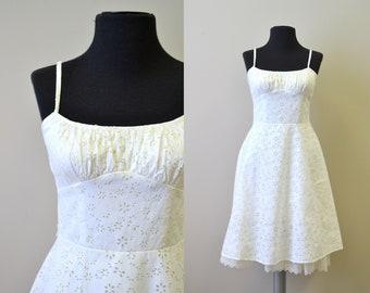 1990s-does-1950s White Eyelet Dress