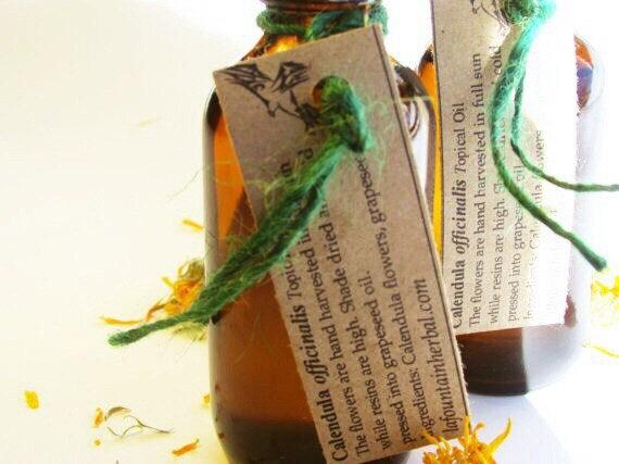 Calendula Oil for Skin Sensitivities -Calendula Flowers Infused in Grapeseed Oil
