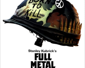 Kubrick's Full Metal Jacket Movie Poster Vietnam War Matthew Modine 24x36