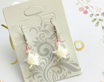 White Origami Lucky Star Earring (READY TO SHIP)