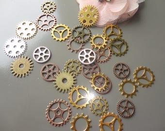 charm steampunk gears watches, steampunk, mixed lot jewelry, destash, charm