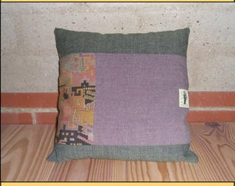 "CUSHION ""Horizontal green"""