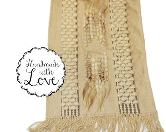 Handmade unique 100% wool Walkwolle Rug Bridge natural Brown new