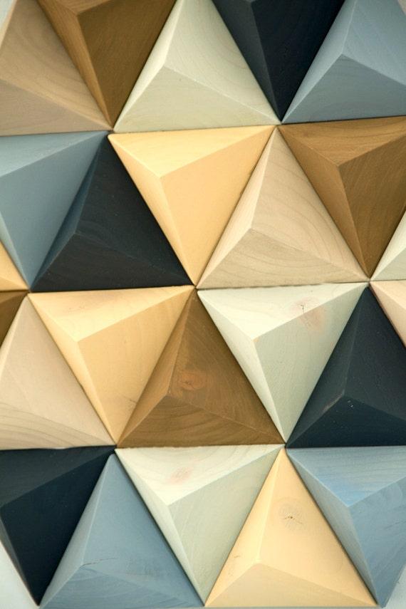 Wood Wall art geometric hexagon mid century wall art unique