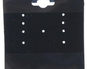 """Hanging Earring Card Black Multihole 2"""" No Imprint (Pkg of 100)  (DER820)"""