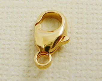14 kt Gold Filled  Clasp, Crab Claw, 11.5mm x 6mm Closure