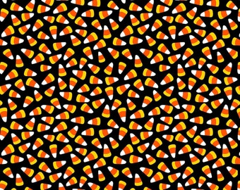 Halloween Fabric Springs Creative Candy Corn Print - 100% Cotton - BY THE YARD