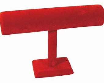 Red Hot Velvet Bracelet Bar Display Stand