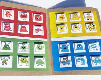 File Folder Game, Colour Matching Activity, Monster Mash, Kindergarten, Preschool, Laminated with Velcro, Homeschool