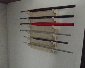 Wooden brush holder
