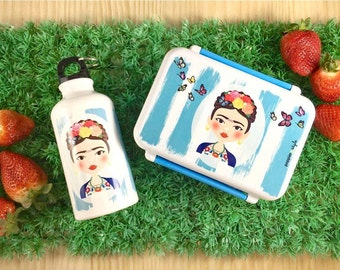 Lunch box and FRIDA bottles