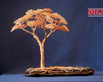 Hardwood Wire Tree Sculpture